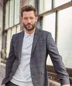 Next Karierter Anzug im Slim Fit: Sakko