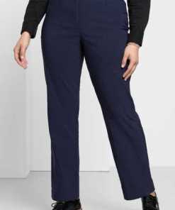 sheego Basic Anzughose mit schmalem Bund