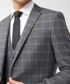 Next Tollegno-Anzug mit Karomuster: Sakko