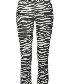Isabel Marant Étoile Skinny Pants Alone aus Samt mit Zebra-Print