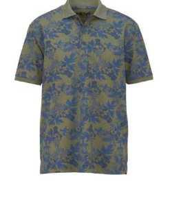 Men Plus by Happy Size Poloshirt mit Allover-Print