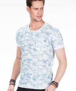 Cipo & Baxx Herren T-Shirt mit Abriebstellen