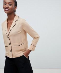 New Look - Hemd mit paspelierter Tasche - Bronze