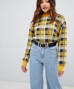 New Look - Karierter Pullover - Gelb
