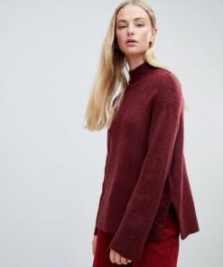 New Look - Burgunderroter Pullover mit weiten Ärmeln - Rot