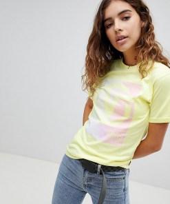Vans - Exclusive Circle V - Oversize-T-Shirt in Gelb - Gelb