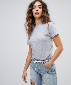 Vans - Graues T-Shirt mit kleinem Logo - Grau