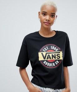 Vans - Schwarzes Retro-T-Shirt mit Logo - Schwarz