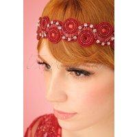 20s Eliza Embellished Headband in Red