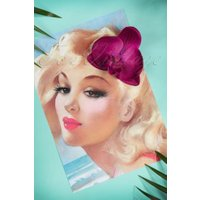 50s Bring Me Cerise Orchids Daily Hair Clip