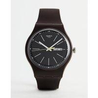 Swatch - SUOC704 Blue Browny - Braune Armbanduhr - Braun