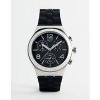 Swatch - YCS116 Time To Swatch - Uhr mit Silikonarmband in Schwarz