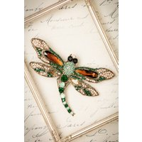20s Imperial Dragonfly Hair Clip and Brooch in Gold
