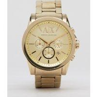 Armani Exchange - AX2099 - Chronograph mit goldfarbenem Edelstahlarmband - Gold