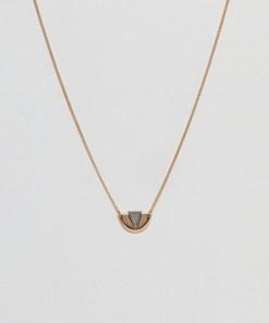 DesignB - Goldene Halsketten mit Anhänger - Gold