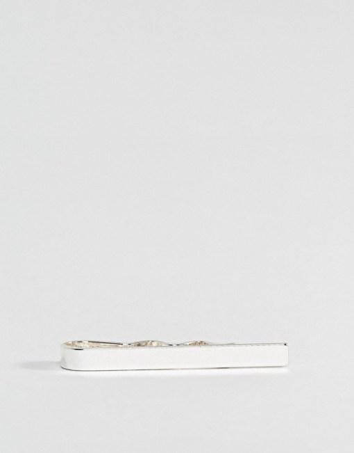 ASOS DESIGN - Silberfarbenem schmale Krawattennadel - Silber