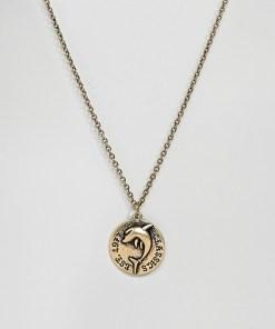 Classics 77 - Halskette aus poliertem Gold mit Münzenanhänger - Gold