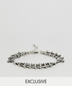 Reclaimed Vintage - Inspired - Kettenarmband in Silber