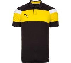 PUMA Poloshirt 'Spirit II' gelb / schwarz