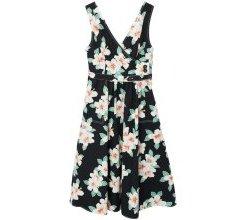 MANGO Kleid 'Gardenia-i' schwarz / weiß