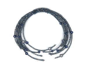 Trachten Halskette Xenia mit Glassperlen Allgäu Rebell weiß