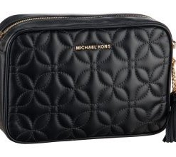 Michael Kors Umhängetasche Ginny Medium Camera Bag Flora Quilted Black