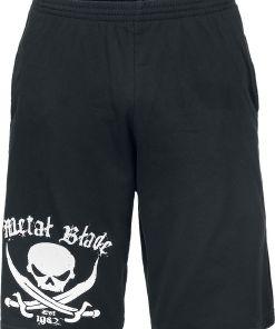 Metal Blade Pirate Logo Shorts schwarz