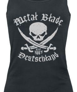 Metal Blade Pirate Deutschland Girl-Top schwarz