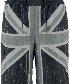 Brandit Swimshorts Union Jack Badeshorts grau/schwarz