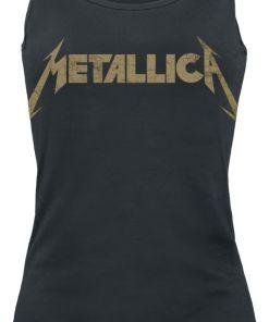 Metallica Hetfield Iron Cross Guitar Girl-Top schwarz