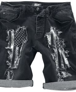 Rock Rebel by EMP Walk With Me In Hell Shorts schwarz