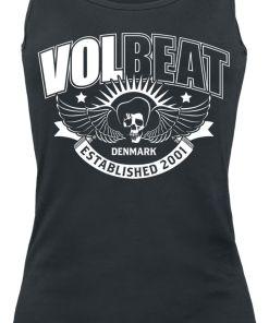 Volbeat Skullwing Ribbon Girl-Top schwarz