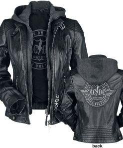 AC/DC EMP Signature Collection Girl-Lederjacke schwarz