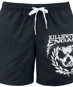 Killswitch Engage Skull Leaves Badeshorts schwarz