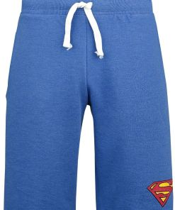 Superman Logo Vintage Shorts blau meliert