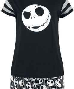 The Nightmare Before Christmas Jack Skulls Pyjama schwarz