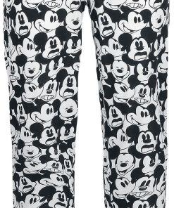 Micky Maus Mickey Face Pyjama-Hose schwarz/weiß
