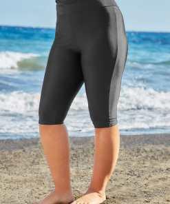 GroBe Größen Schwarze elastische Badeshorts YC
