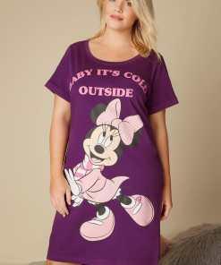 """GroBe Größen Lila Disney Minnie Mouse Nachthemd mit """"Baby It's YC"""