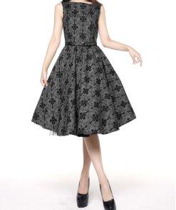 Circle Dress Grey