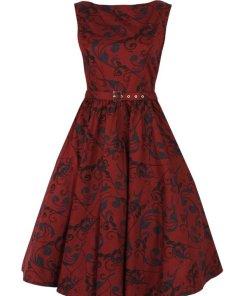 Circle Dress Red