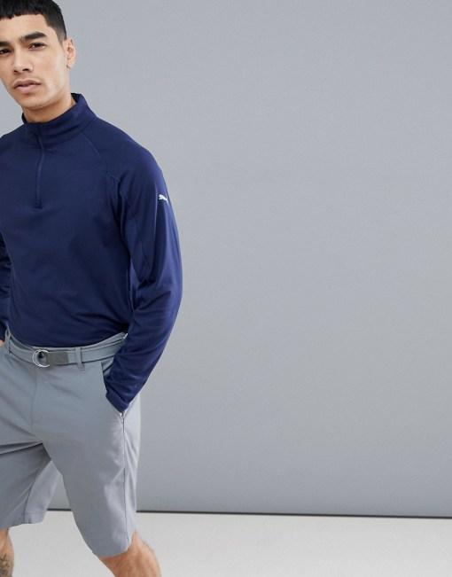 Puma - Golf Pounce 57236604 - Sweatshirt mit kurzem Reißverschluss in Blau - Blau