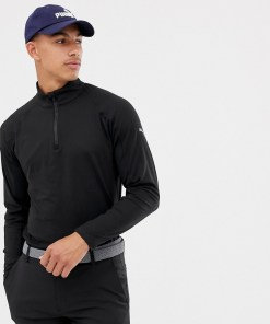 Puma - Golf - Schwarzes Sweatshirt mit kurzem Reißverschluss - Schwarz