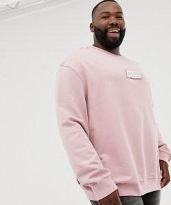 Puma PLUS - Sweatshirt aus Bio-Baumwolle in Rosa