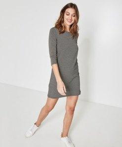 Kleid mit Mini-Pepitamuster