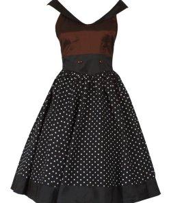 Sailor Styled Dress Bordeaux
