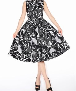 Sleeveless Dress Black/White