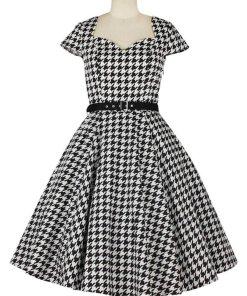 Sweetheart Houndstooth Dress