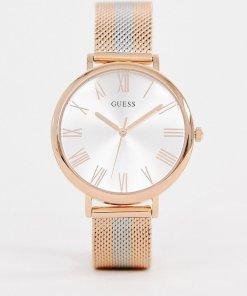 Guess - W1155L4 Lenox - Uhr mit Netzarmband aus Metall-Mix - Gold