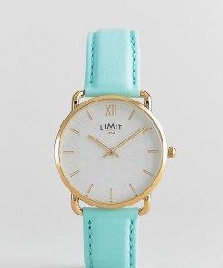 Limit - Armbanduhr aus Kunstleder in Pastellgrün